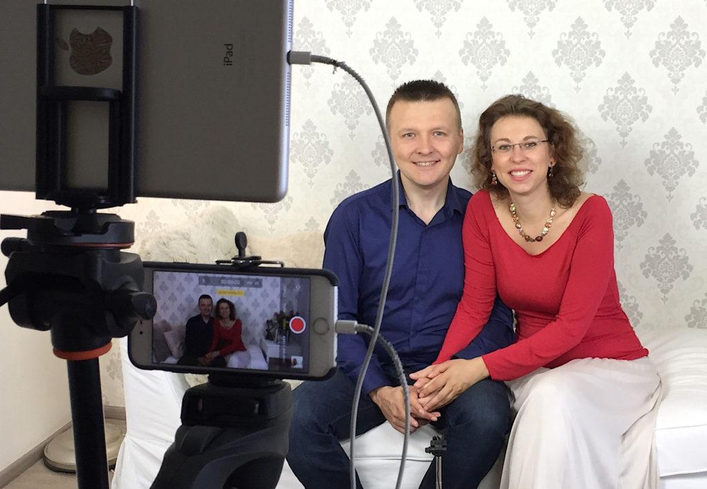 Radek a Lucie před kamerou